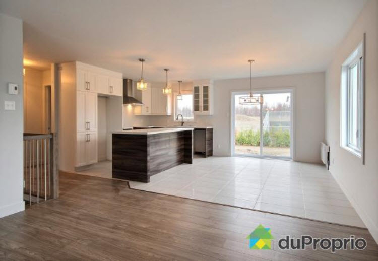 cuisine salle 224 d238ner blanche et brune construction d
