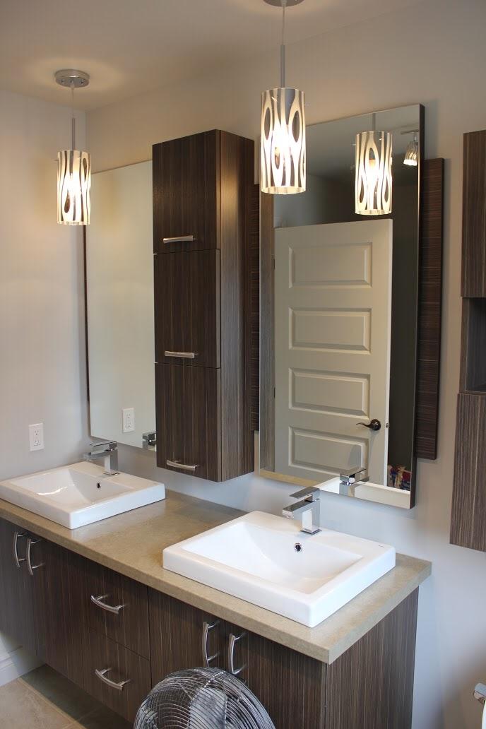 meuble salle de bain bois massif 2 tiroirs 120 cm calveth ...